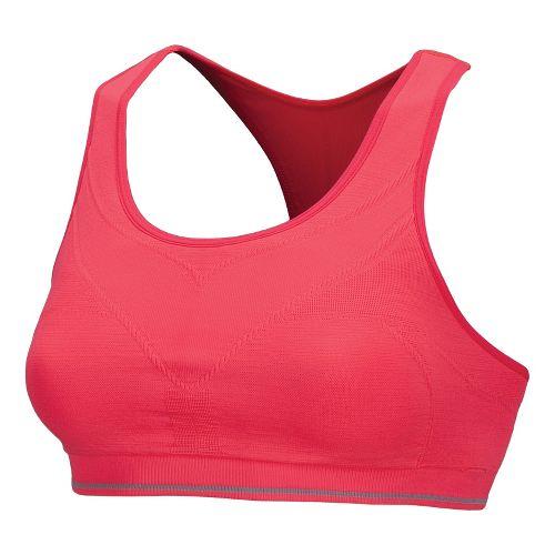 Womens New Balance The Seamless Genius Sports Bras - Diva Pink M
