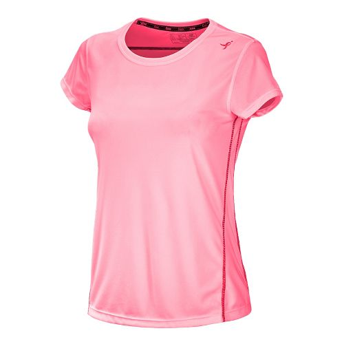 Womens New Balance Go 2 Short Sleeve Technical Tops - Strawberry/Watermelon M