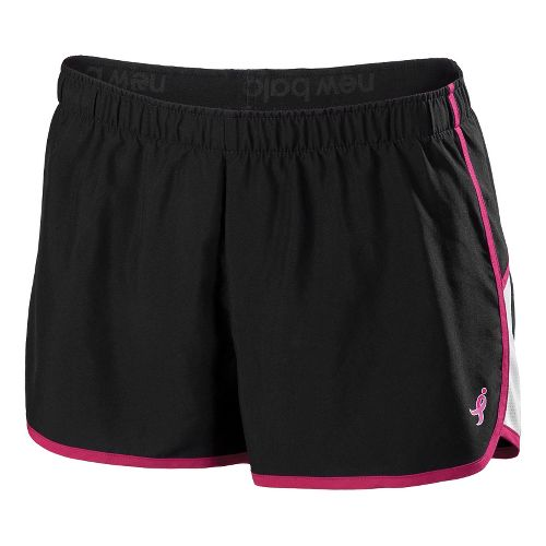 Womens New Balance Komen Momentum Lined Shorts - Black XL