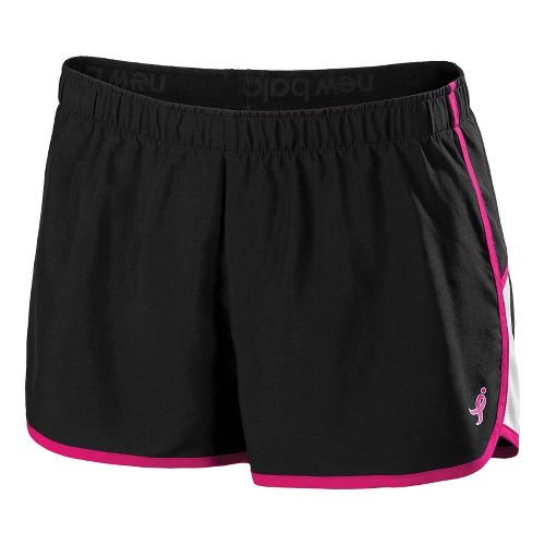 Womens New Balance Komen Momentum Lined Shorts - Black/PinkGlo L