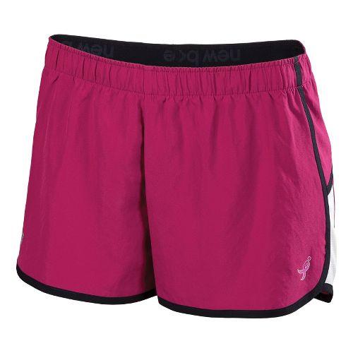 Womens New Balance Komen Momentum Lined Shorts - Sangria XS