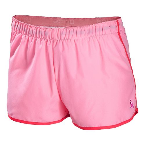 Womens New Balance Komen Momentum Lined Shorts - Strawberry/Black XS