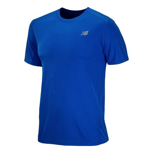 Mens New Balance Go 2 Short Sleeve Technical Tops - Cobalt S