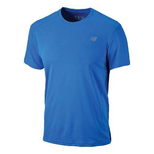 Mens New Balance Go 2 Short Sleeve Technical Tops - Electric Blue XL