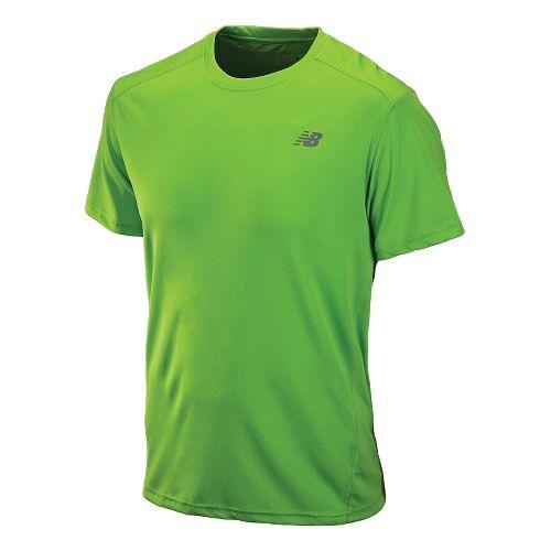 Mens New Balance Go 2 Short Sleeve Technical Tops - Jazz Green L