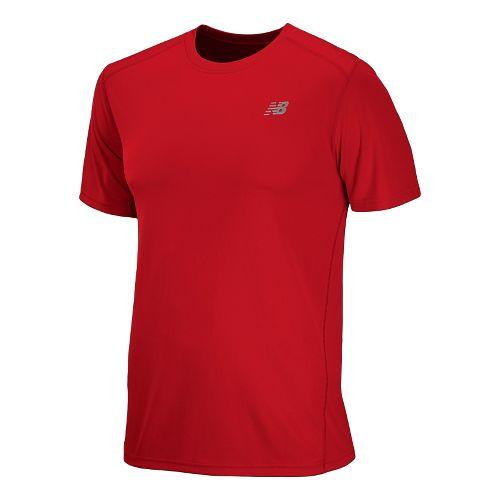 Mens New Balance Go 2 Short Sleeve Technical Tops - Velocity Red XL