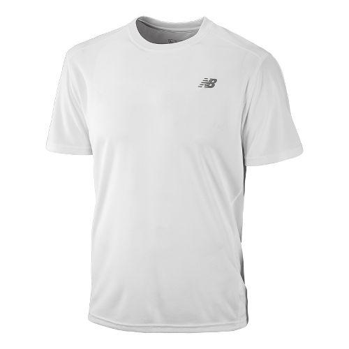 Mens New Balance Go 2 Short Sleeve Technical Tops - White M