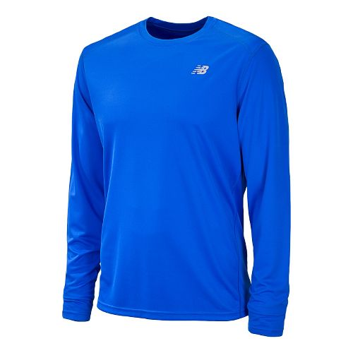 Mens New Balance Go 2 Long Sleeve No Zip Technical Tops - Cobalt XS
