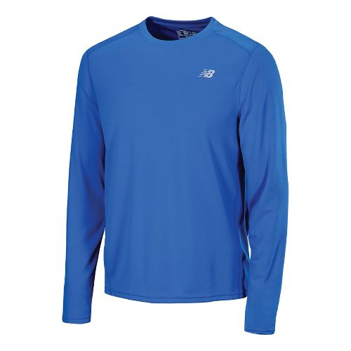 Mens New Balance Go 2 Long Sleeve No Zip Technical Tops - Electric Blue S ...