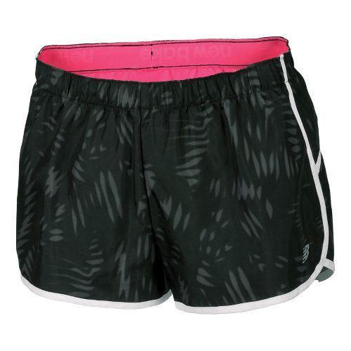 Womens New Balance Momentum Print Lined Shorts - Black/Magnet XXL