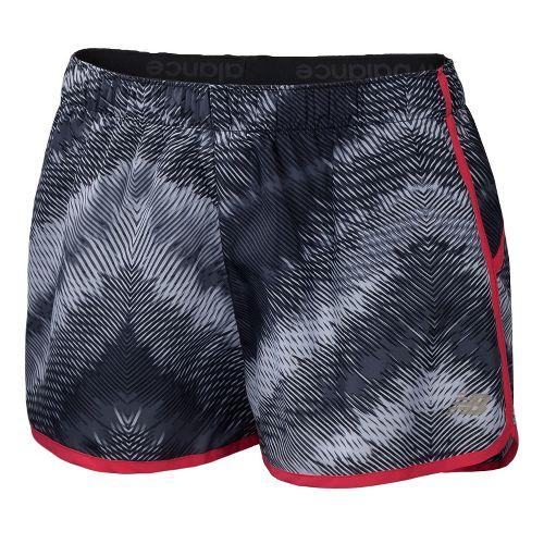 Womens New Balance Momentum Print Lined Shorts - Black/Watermelon S
