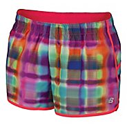 Womens New Balance Momentum Print Lined Shorts