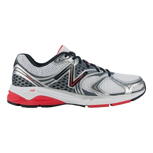 Mens New Balance 940v2 Running Shoe - Steel/Red 8.5