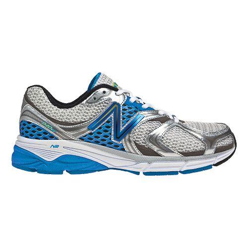 Mens New Balance 940v2 Running Shoe - White/Blue 9.5