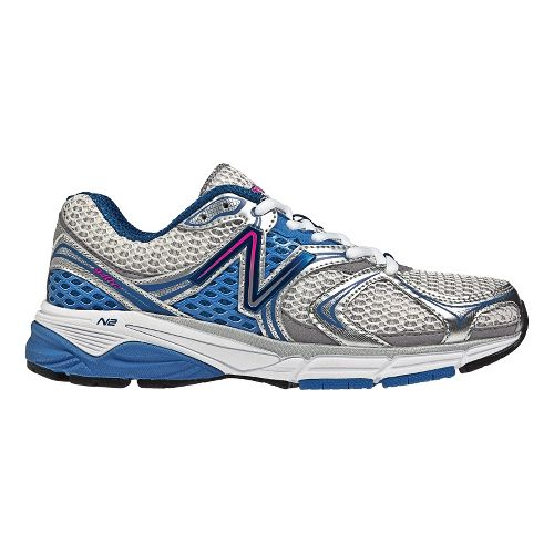 Womens New Balance 940v2 Running Shoe - White/Blue 10.5