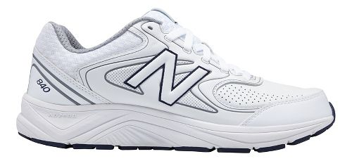 Mens New Balance 840v2 Running Shoe - White/Navy 10.5