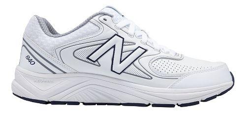 Mens New Balance 840v2 Running Shoe - White/Navy 8