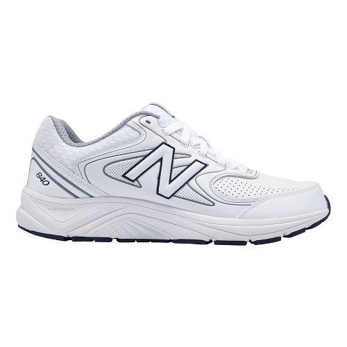 Mens New Balance 840v2 Running Shoe - White/Navy 10.5