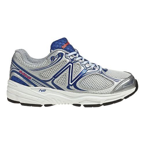 Womens New Balance 840v2 Running Shoe - White/Blue 11