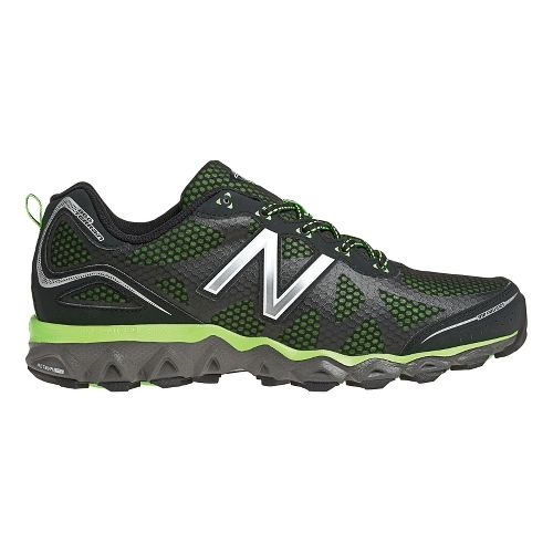 Mens New Balance 710v2 Trail Running Shoe - Black/Green 11.5