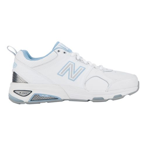 Womens New Balance 857 Cross Training Shoe - White/Blue 12