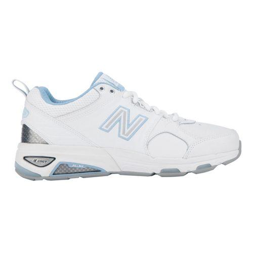 Womens New Balance 857 Cross Training Shoe - White/Blue 8.5