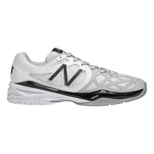 Mens New Balance 996 Court Shoe - White/Silver 12.5