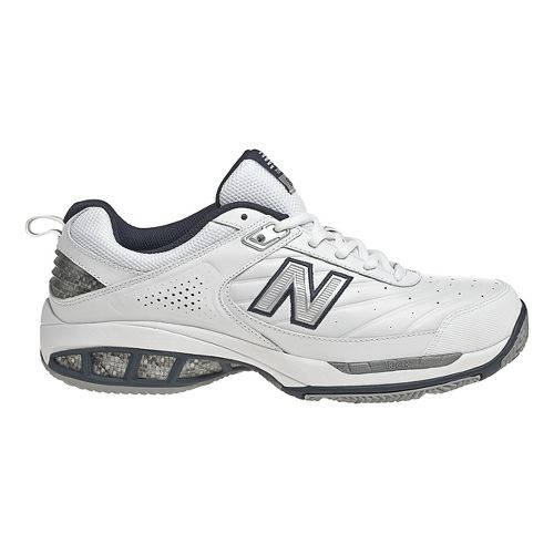Mens New Balance 806 Court Shoe - White 12