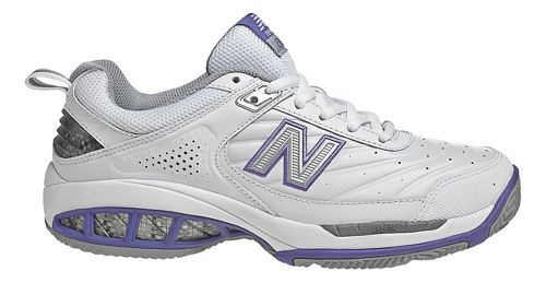 Womens New Balance 806 Court Shoe - White 7