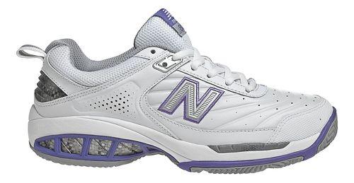 Womens New Balance 806 Court Shoe - White 8