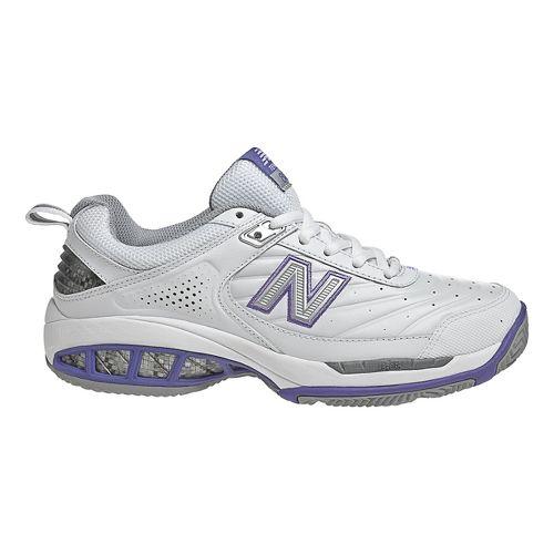 Womens New Balance 806 Court Shoe - White 7.5