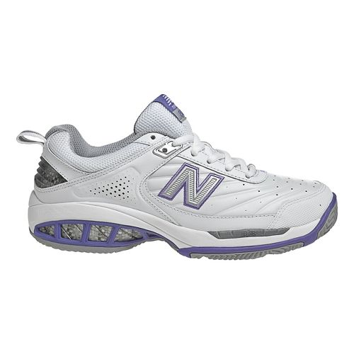 Womens New Balance 806 Court Shoe - White 8