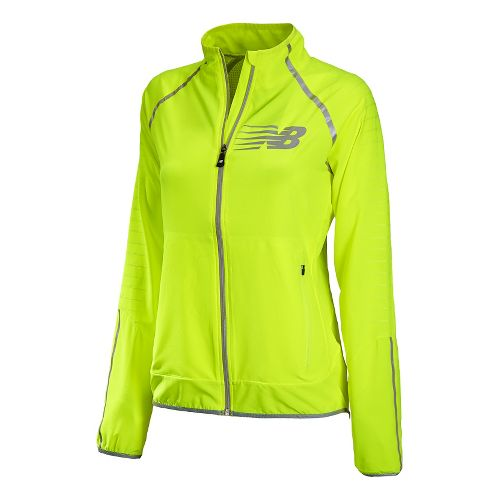 Womens New Balance Hi-Viz Beacon Running Jackets - Hi-Lite L