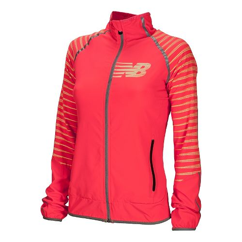 Womens New Balance Hi-Viz Beacon Running Jackets - High Vis Yellow S