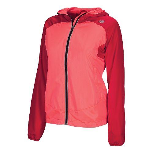 Womens New Balance Sequence Hooded Running Jackets - Azurite M