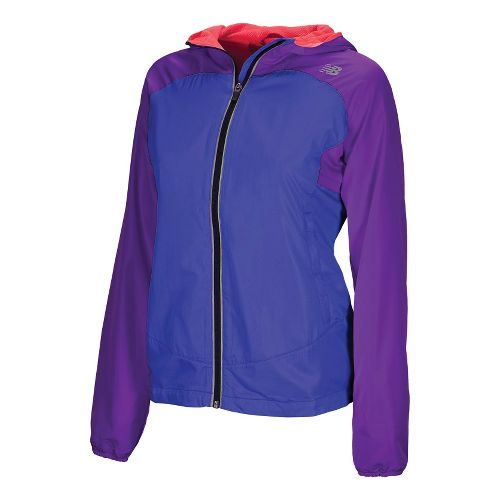 Womens New Balance Sequence Hooded Running Jackets - Fiery Coral XS