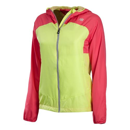 Womens New Balance Sequence Hooded Running Jackets - Watermelon S