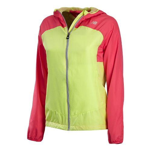 Womens New Balance Sequence Hooded Running Jackets - Watermelon XXL