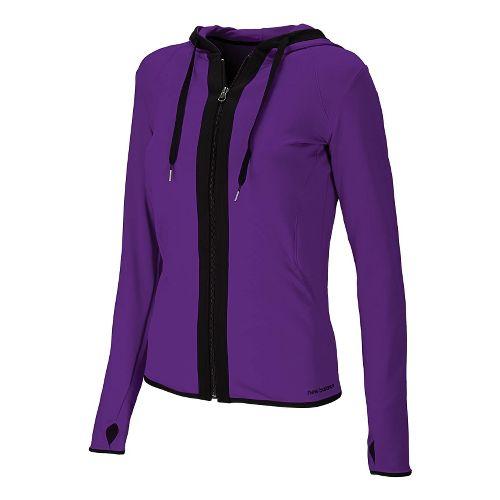 Womens New Balance Ultimate Fitness Running Jackets - Acai L