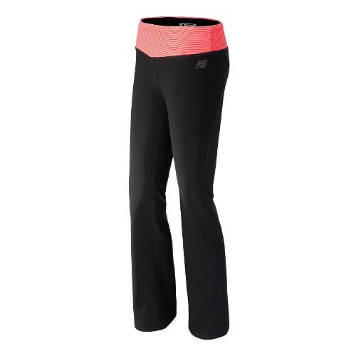 Womens New Balance The Fierce Flare Full Length Pants - Bright Cherry S-S