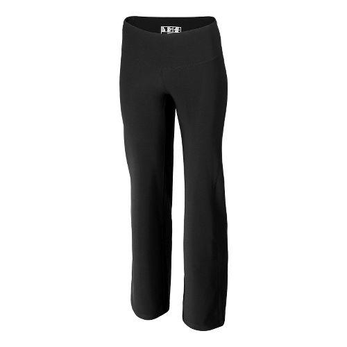 Womens New Balance The Fierce Flare Full Length Pants - Black/Black Heather XXL-S