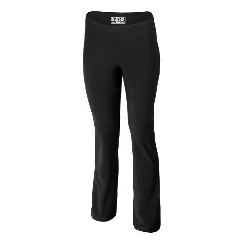 Womens New Balance Ultimate Wide Leg Full Length Pants - Black Bright Cherry M-R