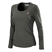 Womens New Balance Komen Heather Long Sleeve No Zip Technical Tops