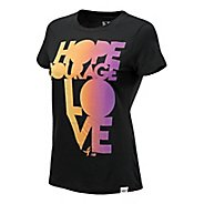 Womens New Balance Hope Courage Love Short Sleeve Technical Tops