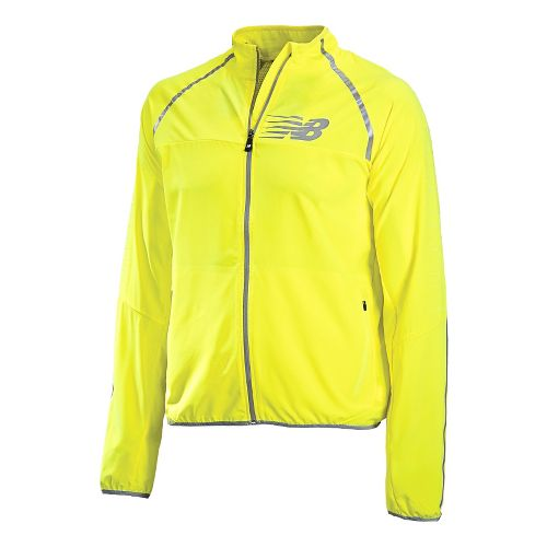 Mens New Balance Hi-Viz Beacon Running Jackets - Hi-Lite M