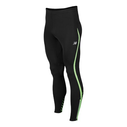 Mens New Balance Impact Fitted Tights - Green Gecko L