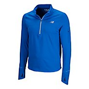 Mens New Balance Impact Thermal Long Sleeve 1/2 Zip Technical Tops