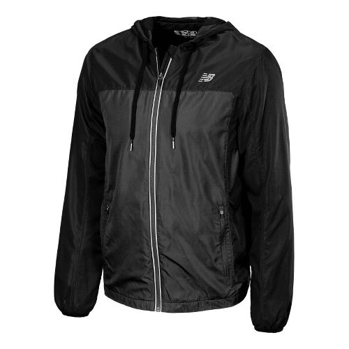 Mens New Balance Sequence Hooded Running Jackets - Magnet L