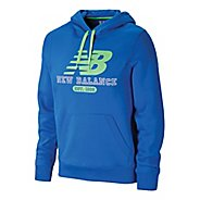 Mens New Balance Essentials Pullover Hoodie Long Sleeve No Zip Technical Tops