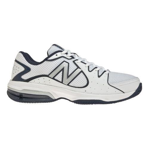 Mens New Balance 786 Court Shoe - White/Navy 12.5